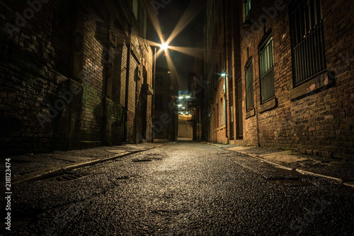 Photo Dark Alley at night