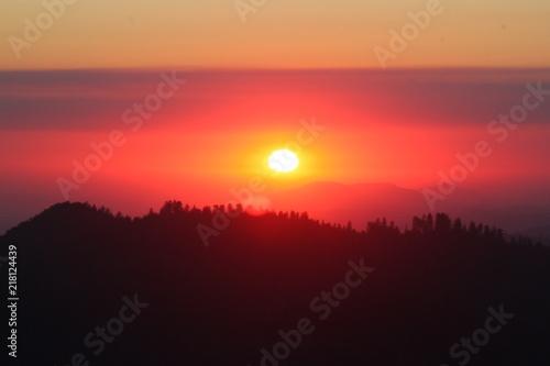 Papiers peints Corail Coucher de soleil, parc national de Yosemite en Californie