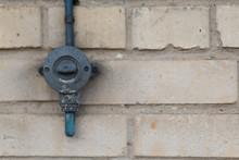 Black Vintage Switch On Brick ...