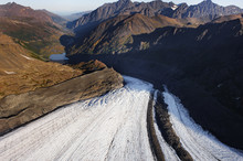 Eagle Glacier And Eagle River Valley From A Helicoper Tour Out Of Anchorage.