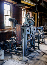 Blade Sharpening Equipment In Historic Saw Mill