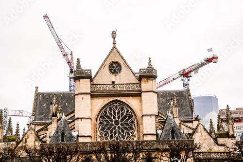 Poster Parijs Building exterior, Photo image a Beautiful panoramic view of Paris Metropolitan City