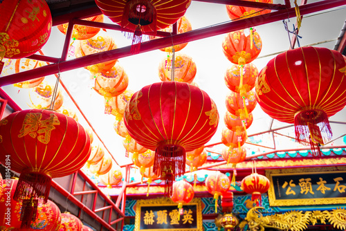 Chinese lanterns in Chinese Temple