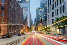 Light Trails On California Street