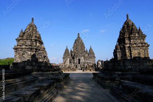 Photo sur Aluminium Monument Sewu temple (thousand temple) is the second largest Buddhist temple complex in Indonesia after Borobudur