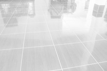 Gray Tiles Marble Floor For Buildings Interiors Background