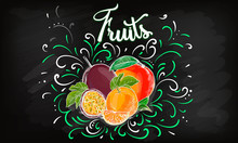 Sweet Apple Vector Logo Design Template. Fresh Fruit, Food Or Menu Board Icon. Vector Illustration