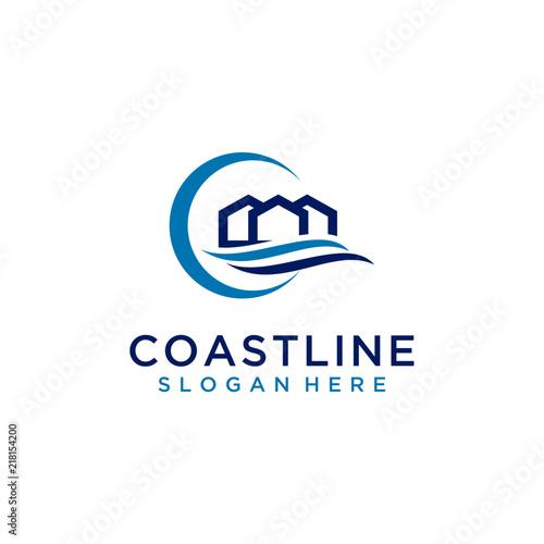 Fototapeta Coastline logo design