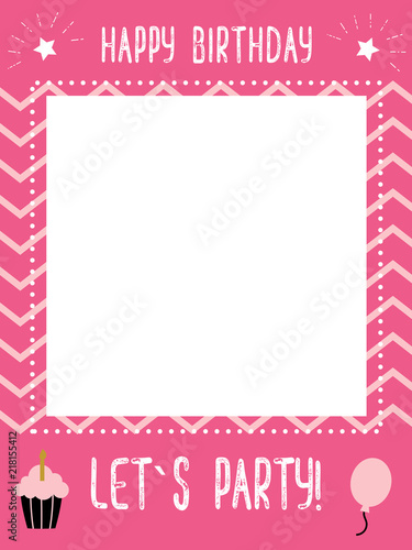 little girl s birthday photo booth props frame - Buy this stock ...