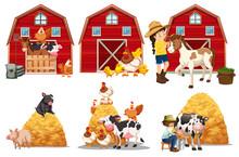 A Set Of Farm Element