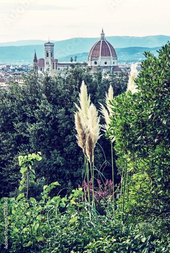 Fotografie, Obraz  Florence city with Cathedral Santa Maria del Fiore and Campanile