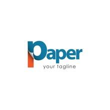 Paper Logo Vector Template Des...