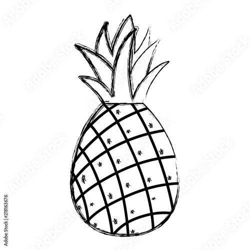 Retro sign grunge delicious pineapple fresh fruit nutrition