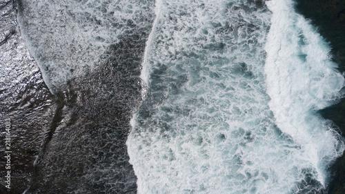 Fotografía  Aerial: ocean surface waves view