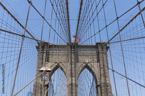 Tuinposter Brooklyn Bridge Brooklyn Bridge in New York City