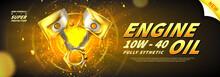Engine Oil Advertisement Banner