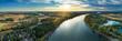 Leinwanddruck Bild - Der Rhein bei Eich