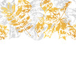 Seamless pattern with printed leaves.