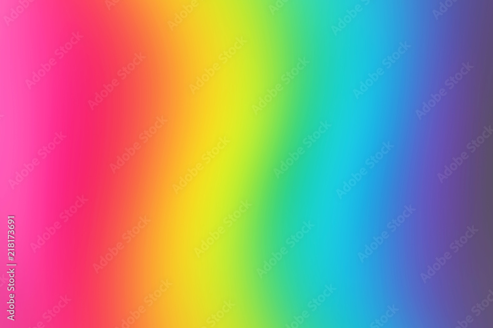 Fototapety, obrazy: Abstract blurred rainbow background. Colorful wallpaper. Bright colors.