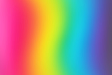 Abstract Blurred Rainbow Backg...