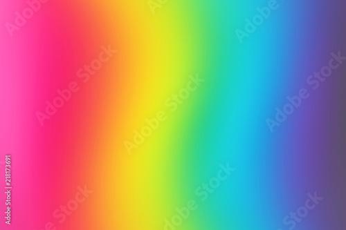 Fotografie, Obraz  Abstract blurred rainbow background