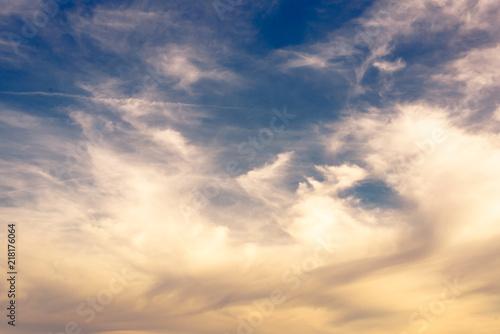 Fototapeta Wolken Himmel Hintergrund obraz na płótnie