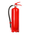 Fire Extinguisher On White Bac...