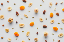 Top View Of Tasty Dried Fruits...