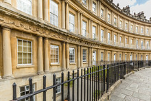 General View Of The Georgian Houses At The Circus In The Unesco World Heritage City Of Bath, Somerset,  UK