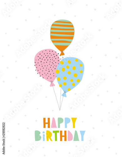 Happy Birthday Vector Illustration Colorful Letters And Balloons White Background Simple Childish Style Graphic Buy This Stock Vector And Explore Similar Vectors At Adobe Stock Adobe Stock,Low Cost Minimalist House Design Interior