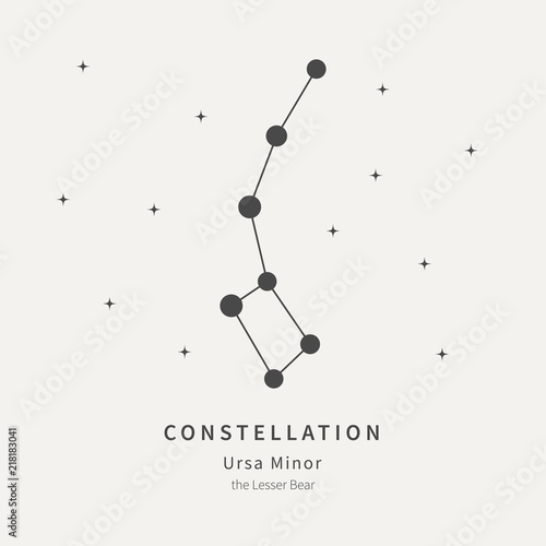 The Constellation Of Ursa Minor Wallpaper Mural