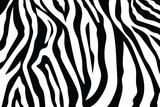 Fototapeta Zebra - Zebra Stripes Pattern. Zebra print, animal skin, tiger stripes, abstract pattern, line background, fabric. Amazing hand drawn vector illustration. Poster, banner. Black and white artwork, monochrom