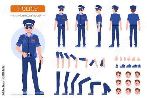 Fototapeta policeman