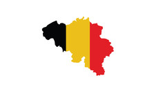 Belgium Map Outline National Borders Country State Europe