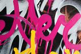 Fototapeta Młodzieżowe - better graffiti pink marker macro background style