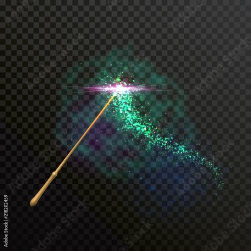 Fotografie, Obraz Magic wand light sparkle glitter light trail trace