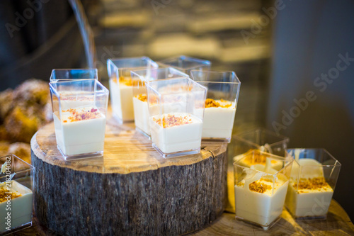 Fotobehang Buffet, Bar Breakfast Buffet Concept, Breakfast Time in Luxury Hotel, Brunch with Family in Restaurant