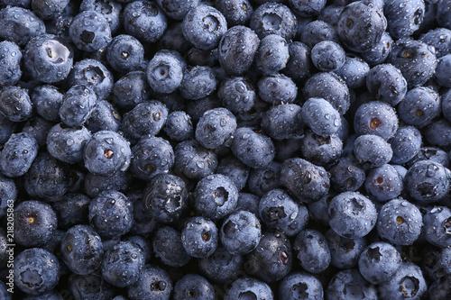Fotomural Fresh ripe blueberries as background