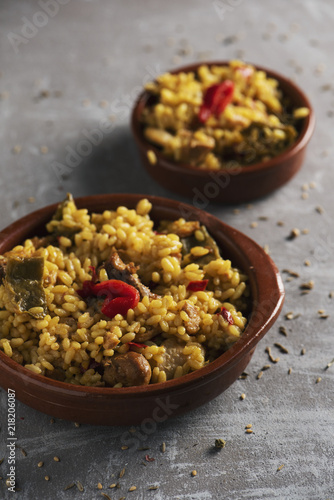 typical spanish paella valenciana