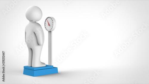 太った人と体重計 裏側 右コピースペース Adobe Stock でこのストック
