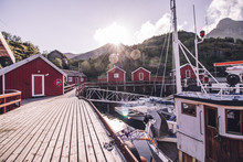 Traditional Fishing Village In Norway, Nusfjord