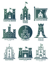Logo With Castle And Towers At...