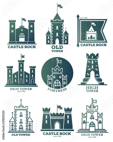 Logo With Castle And Towers At Flags Coat Of Arms Buy This Stock