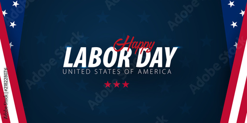 Labor Day sale promotion, advertising, poster, banner, template with American flag Canvas-taulu