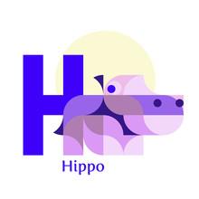 Letter H - Hippo