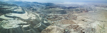 An Aerial View Of Chuquicamata, Long Time Ago The Biggest Open Pit Mine In The World And An Amazing Representation Of How We Are Consuming Our World, Incredible The Amount Of Sand Out Of The Ground