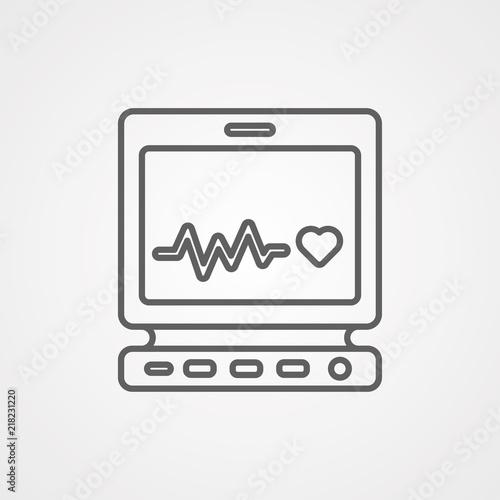 Láminas  Cardiogram vector icon