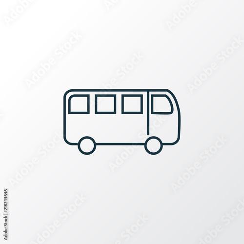 Fotografie, Obraz  Bus icon line symbol