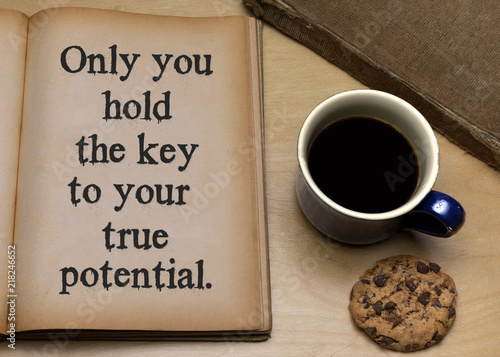 Fotografie, Obraz  Only you hold the key to your true potential.