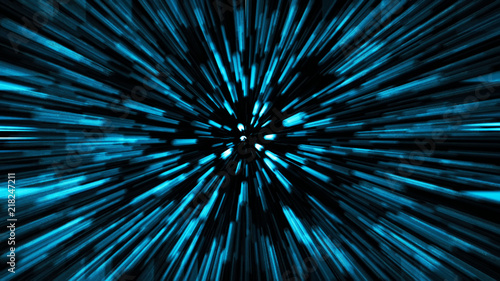 Abstract science fiction outer space and time travel concept background